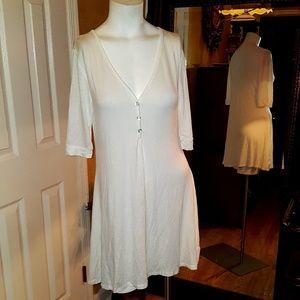 ZENANA Outfitters off white  dress medium  SD40